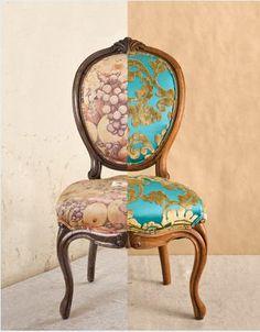 Reupholster DIY antique chair tutorial