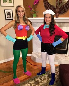 DIY Mermaid Man and Barnacle Boy Halloween costume 2015 for friends