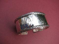 Geneva Cuff. Solid sterling silver.