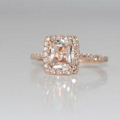 Peach champagne sapphire ring ivonai