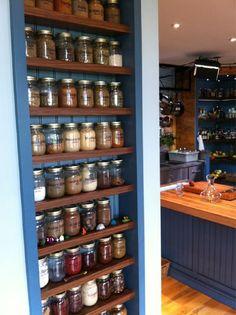Love Chef Michael Smith's mason jar storage system