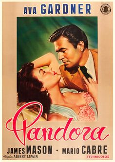 Pandora and the Flying Dutchman (1951) starring Ava Gardner  James Mason — Italian Film Poster