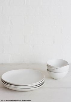 Smooth, tactile, our collection of ceramic bowls and whiteplates are the perfect companions to start the day gently and peacefully Photography: Francois Kong, Styling: Karine Kong   All Rights Reserved