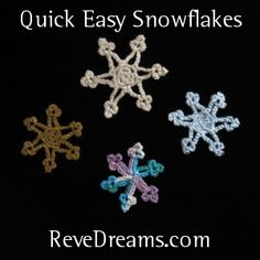 Snowflakes for you - ReveDreams.com #crochet