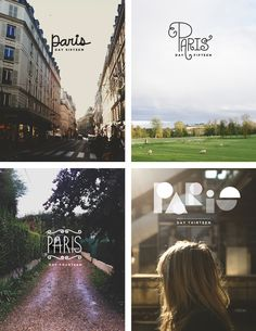 Paris Typography; by The Fresh Exchange