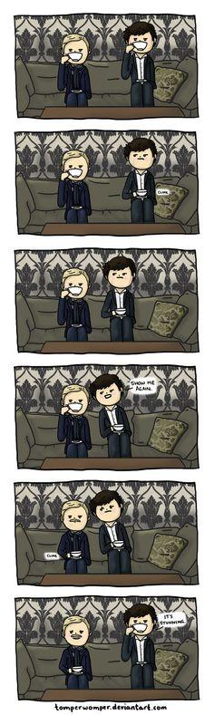 Sherlock and John's Mustache.