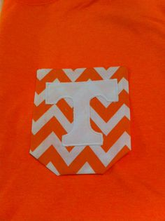 Tennessee Vols Long Sleeve Pocket Tee by BlessingsBoutiqueAl, $20.00