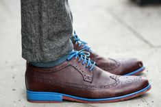 Brown, blue, and brogue