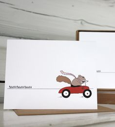 Squirrel On The Go Holiday Cards | Sloe Gin Fizz