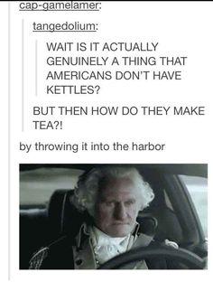 How Americans make tea: