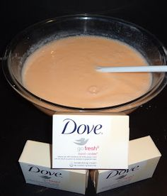 Dove Body Wash DIY I have made a ton of this and will never purchase body wash, this is the real thing, thick, creamy and lathers up great!!