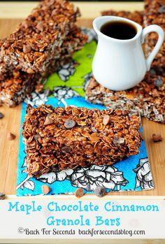 Maple Chocolate Cinnamon Granola Bars