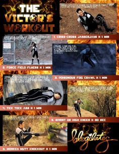 The Victor's Workout. Perfect for #hungergames #catchingfire fans!