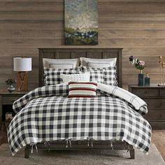 Gray Buffalo Check 8-pc. Queen Comforter Set from Kirkland's