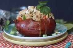 #paleo PaleOMG Thai Chicken Stuffed Sweet Potatoes