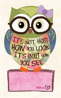 Tween Girl Art Owl art Nerd Owl Home Decor by jmdesign on Etsy