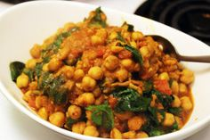 spinach chickpea curry