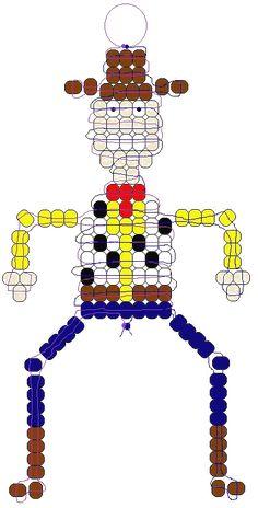 Woody Toy Story beadie pattern