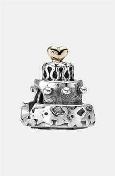 PANDORA Celebration Cake Charm (Pre-wedding gift + my first Pandora charm).  Thanks, @Nat Coburn