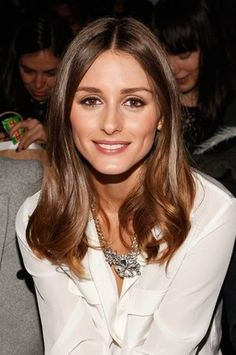 obsessed with Olivia Palermo's super shiny hair