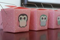 partyfavors Owl Themed Party