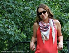 silk scarf -- love how it is tied