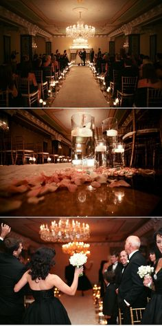 Obsessed with the candles lining the aisle!