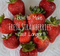 How to Make Fresh Strawberries Last Longer  :-)