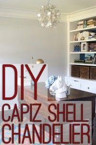 Make a high end DIY Capiz Shell Chandelier/Hanging Pendant Light