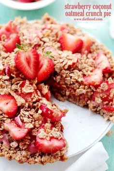 Strawberry Coconut Oatmeal Crunch Pie.  YUM!