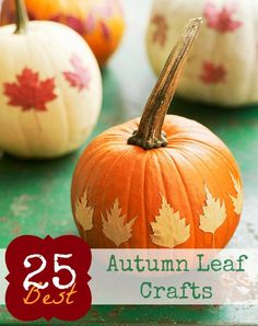 A collection of the best ideas for crafting with colorful Autumn leaves | Remodelaholic