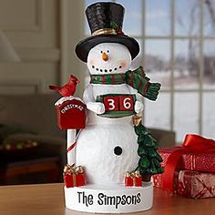 Snowman Countdown Figurine - Great price for a Countdown Snowman!
