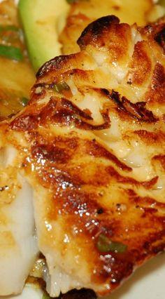 Caribbean Sea Bass with Habañero, Pineapple and Honey