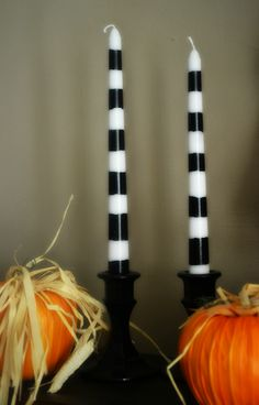Dollar Store Crafting: DIY Halloween Candles & Holders