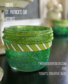 Ombre St. Patrick's Day Votives | TodaysCreativeBlog.net