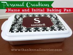 The Name and Initial Baking Pan from Personal Creations is perfect for everyday baking, serving and storing all in one... in a personalized way! #PCholiday #ad