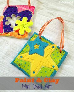 Paint and clay craft art