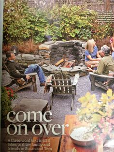 Firepit. Beautiful patio and firepit style!