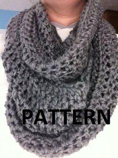 Free Crochet Patterns Infinity Scarves | Crochet Pattern : Women's Infinity Scarf Pattern, Infinity Scarf ...