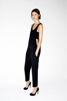 dungarees, model, style, jumpsuit, outfit