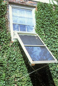 Use Salvaged Storm Windows to Make Solar Collectors.  Low-cost, weather-resistant, simple to assemble...