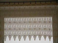 Crochet Curtain Lace Window Valance. $150.00, via Etsy.