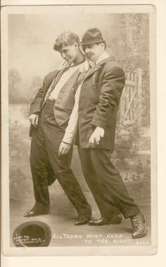 RPPC Photo Studio Comic Drunk Portrait Two Men