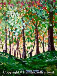On canvas on pinterest 96 pins for Painting with a twist lexington