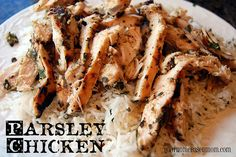 Parsley Chicken and Lime Cilantro Rice