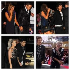 All the boy's with their girlfriends... And then these two cheese balls flyin' solo. :) <3 Love them!