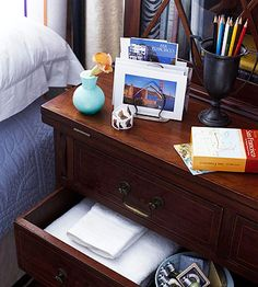 Tweak the room you have by making it as guest-friendly as possible. Place a desk and chair in a corner for writing notes or computer work. Include stationery, writing implements, stamps, local maps and information, and a spare house key. Keep fresh linens in a drawer and an extra pillow and blanket in the closet.