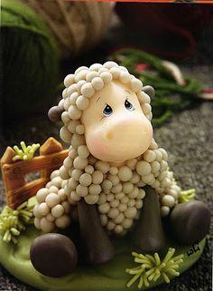 oveja de porcelana fria