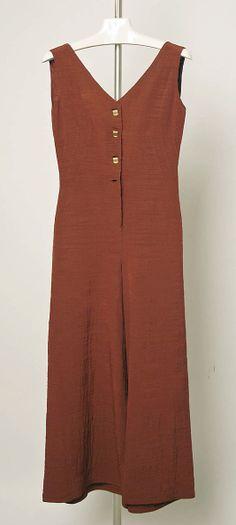 Jumpsuit -     silk, brass   1930–35 Elsa Schiaparelli (1890–1973)*