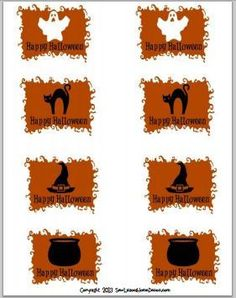 Spooky Halloween Gift Tags. FREE Printable. #halloween #printable sewlicioushomedecor.com